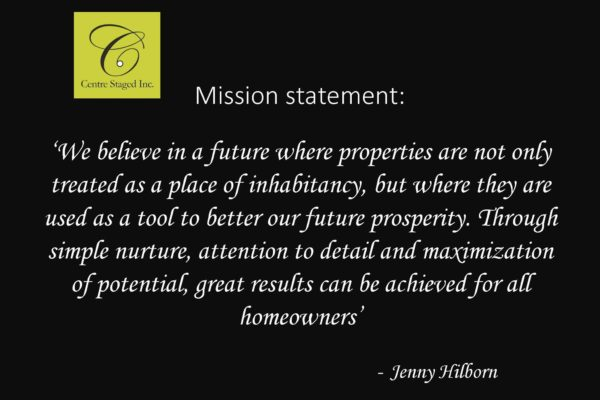 Centre Staged Mission Statement