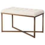 gold bench from target