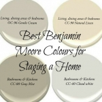 4 paint colours by benjamin moore