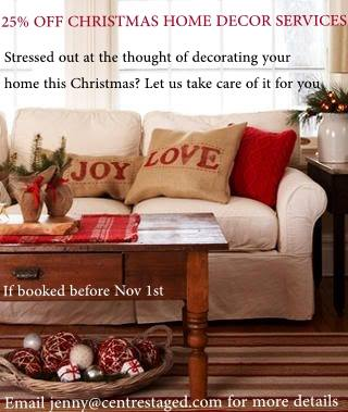 25 off christmas decorating services