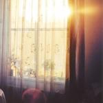 Light shining through window