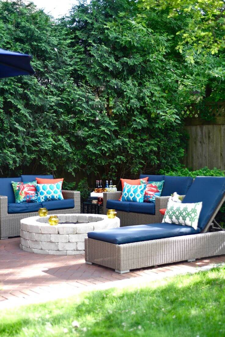 space planning for outdoor entertaining centre staged