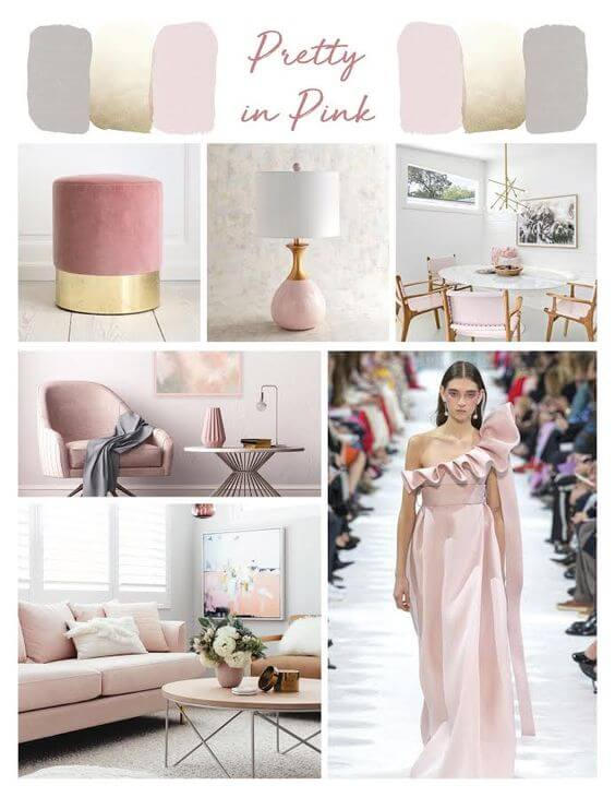 pink home design fashion