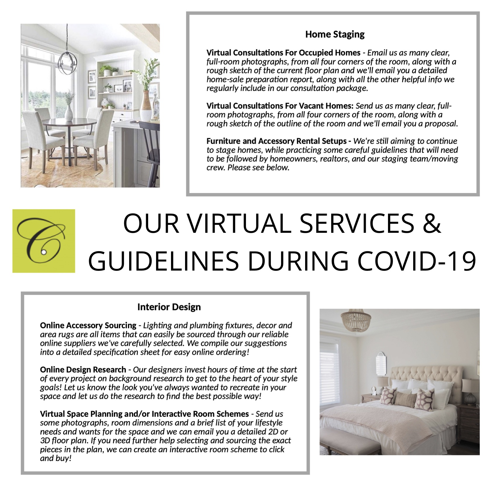 Home Staging and Interior Design Safety during Covid-19