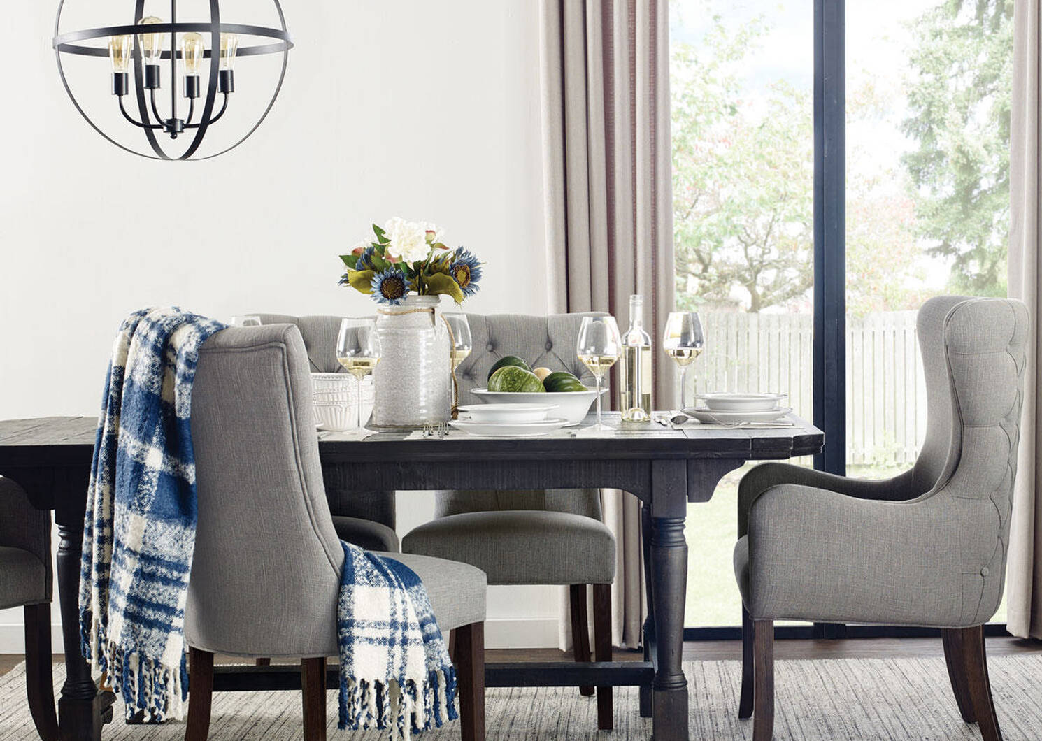 Interior decorating dining chairs