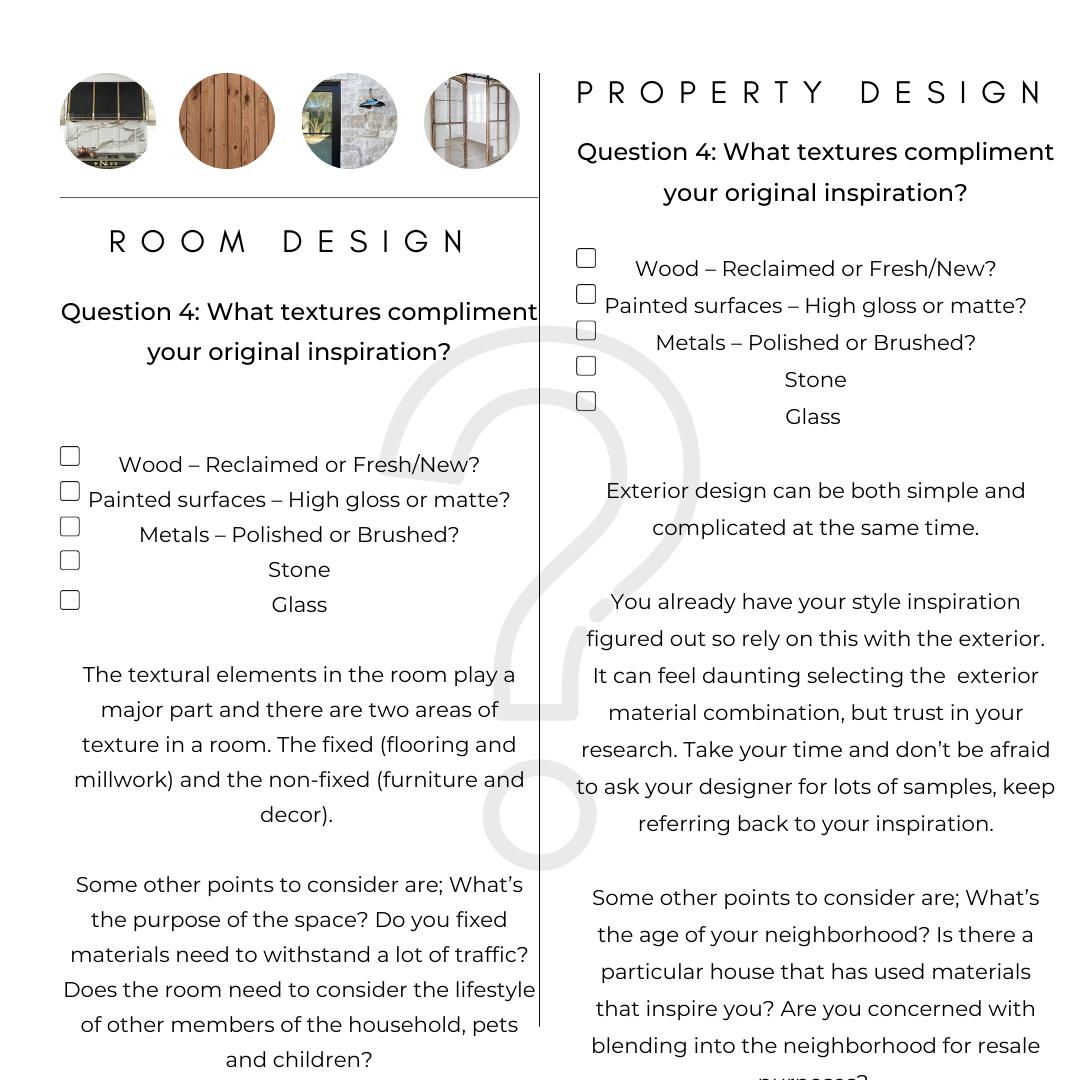 Interior Design Exterior materials