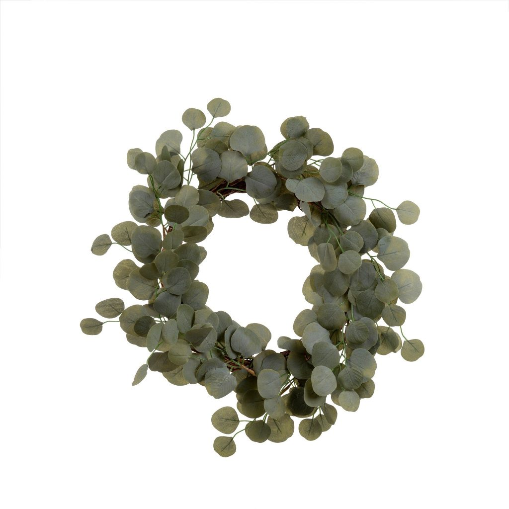 Wall wreath made of eucalyptus vines
