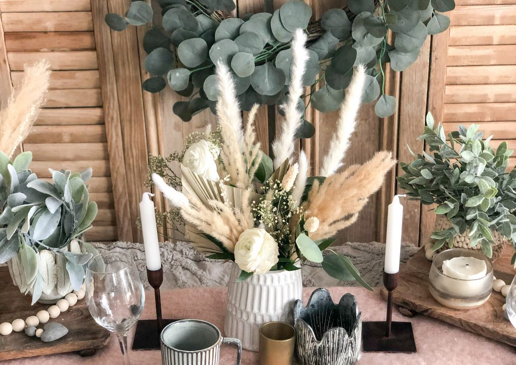 Boho style dried florals