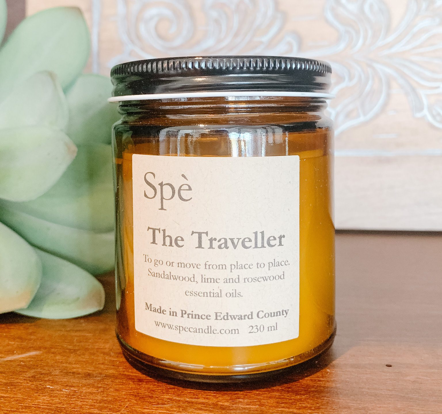 Summer candle, pine, spruce, violet scent, travel candle, locally made candle