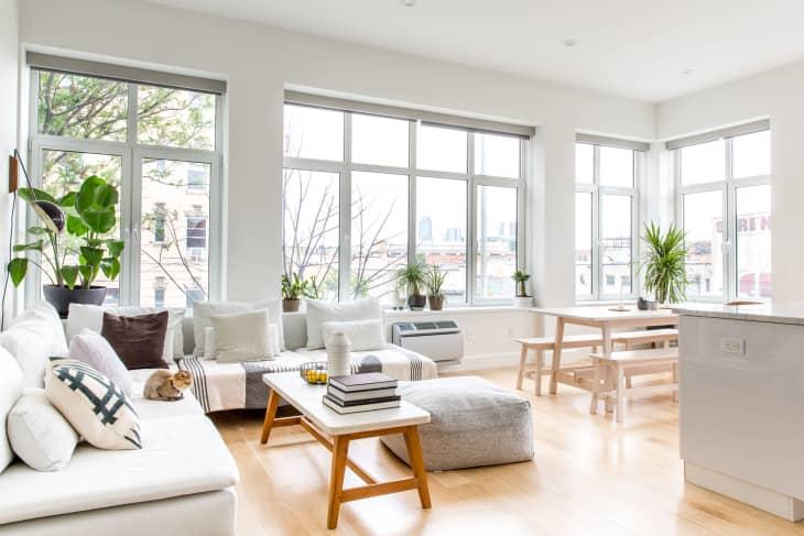 Scandinavian bedroom, light and airy, minimalist