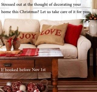 SPREAD THE WORD! 25% OFF CHRISTMAS DECORATING SERVICES!
