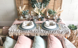DIY Luxury Bohemian Table Setting
