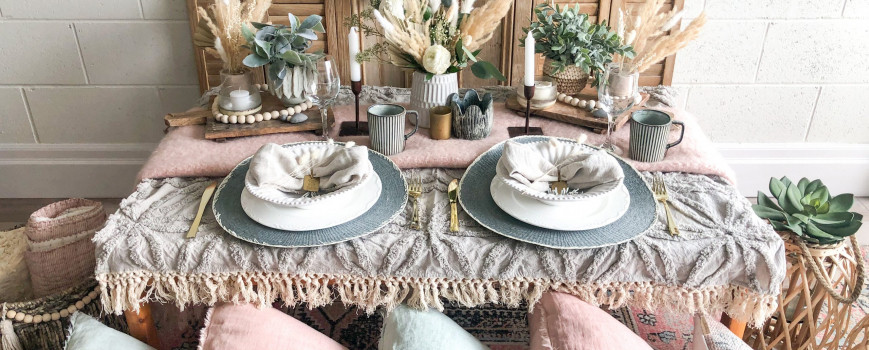 DIY Luxury Bohemian Table Setting
